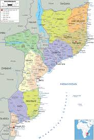 France Map Regions by Mozambique Map