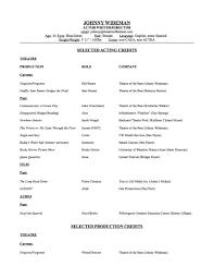 actors resume examples sample of acting resume template httpwwwresumecareerinfo acting acting resume 2012 johnny wideman