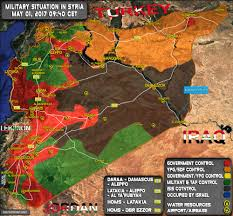 Iraq Syria Map by Military Situation In Syria On May 1 2017 Map Update