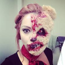 evil teddy bear tutorial halloween scare fx moments makeup