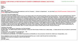 Deputy Sheriff Job Description Resume by Bmc Patrol Scripting Offer Letters