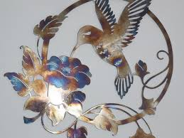 decor 49 metal art decor ceesquare nice hummingbird and flower