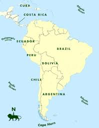 Physical Map Of South America by The Southern Cone Political Map Of South America 1200 Px Nations
