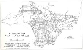 Los Angeles County Map by Metropolitan Area County Of Los Angeles Map Showing Streets