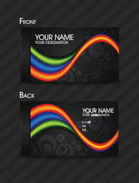 Business Card Eps Template Dynamic Color Business Card Templates 03 Vector Free Vectors
