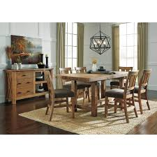 Ashley Furniture Round Dining Sets 7 Piece Counter Extension Table Set By Signature Design By Ashley