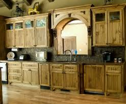 kitchen rustic wooden kitchen cabinet and island with open