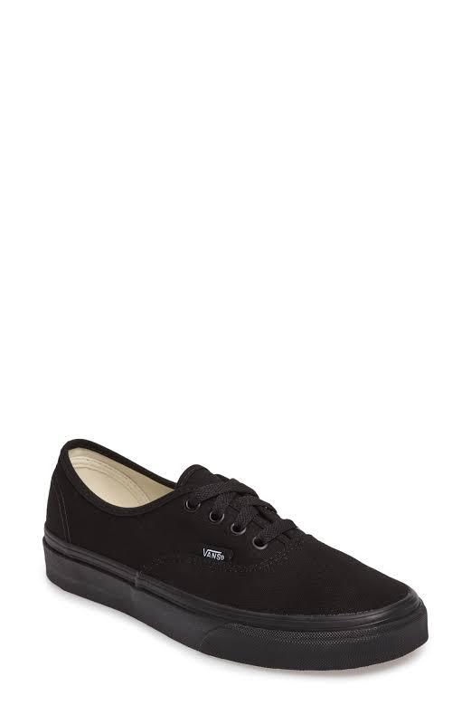 Vans Authentic (Black/Black) Skate Shoes-7.5