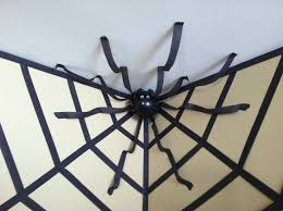 birthday halloween decorations halloween decor giant spider in a web using streamers and a