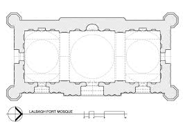 lalbagh fort mosque drawing floor plan archnet