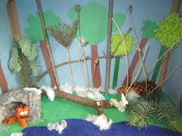 Canadian Lynx diorama  school work  school project  homework  kids crafts little townhome love