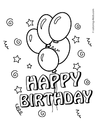coloring pages happy birthday happy birthday printables coloring