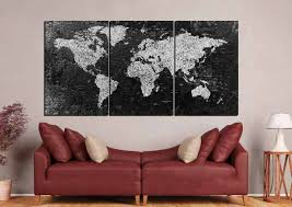 World Map Canvas by World Map Large Black And White World Map World Map Canvas