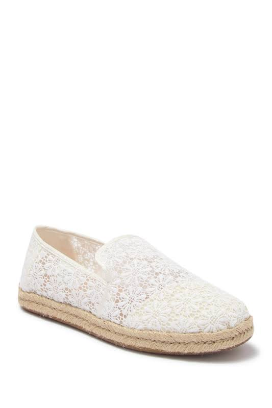 TOMS Deconstructed Alpargata Rope Flats White- Womens