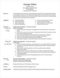Civil Engineering Resume Samples by Current Resume Examples Classic Resume Format Resume Format 2016