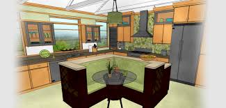 attractive model of amiable kitchen island designs with seating