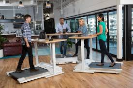 work out at work stand up desk features accompanying treadmill
