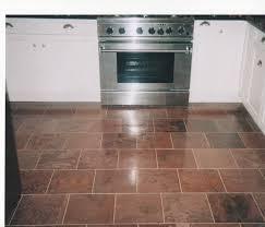 kitchen floor interior rectangle square brown tile kitchen floor