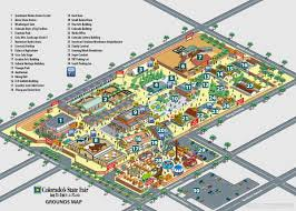 Colorado State University Map by Colorado U0027s State Fair Map Illustration On Behance