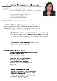 Sample Medical Technologist Resume by Eleanor Martinez Updated Resume October 2014