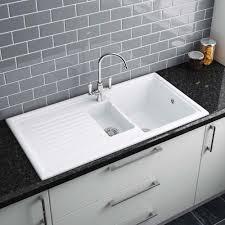 Kitchen Sinks Ceramic Granite Butler Sink Victorian Plumbing - Ceramic white kitchen sink
