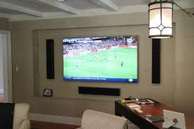 home theater installer home entertainment with samsung tv u0026 totem tribe iii on wall