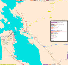 Sf Metro Map by San Francisco Real Distance Metro Map