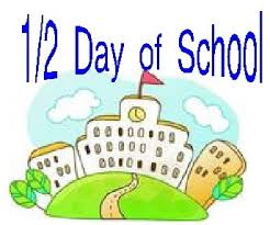 Image result for half day of school clipart
