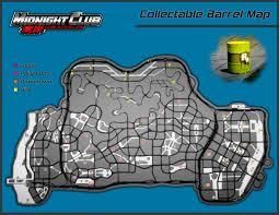 midnight club los angeles cheats codes cheat codes walkthrough map collectable barrel locations