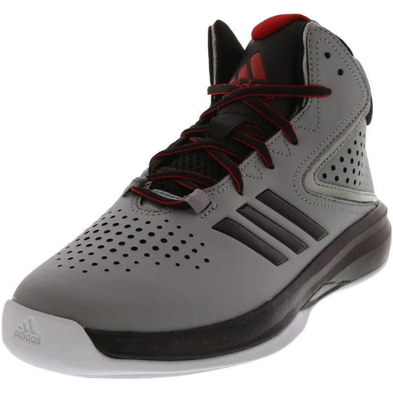 Adidas Cross Em Up 2016 Light Onix / Core Black Scarlet Mid-Top Basketball 7M