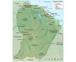 Map Of South Of France by Maps Of French Guiana Detailed Map Of French Guiana In English