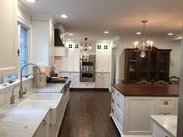 Historic Kitchen With Carrara Marble Perimeter Countertops And A - Carrara tile backsplash