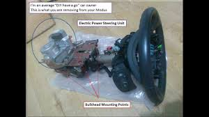 how to remove broken or faulty power steering column on renault