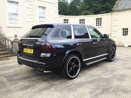 Porsche Cayenne Black - porsche cayenne turbo low miles 450bhp techart black edition in