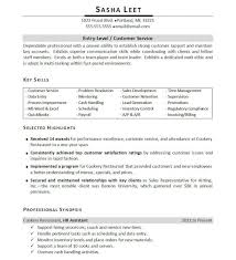 Resume Profile Sample Customer Service  manager template premium