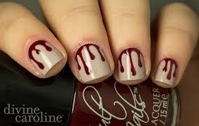 halloween manicure blood drip nail art more com