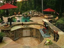 Garden Kitchen Design by Backyard Designs With Pool And Outdoor Kitchen Garden Design