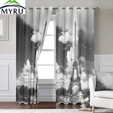myru 140 260 cm 3d eiffel tower window curtains for living room