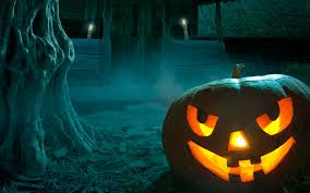 halloween background 1366x768 nature wallpaper halloween lightseagreen steelblue darkorange