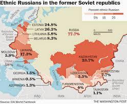 Former Soviet Union Map War News Updates Is Kazakhstan U0027s Russian Minority About To Revolt