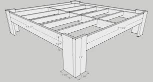 King Size Platform Bed Designs by Diy Bed Frame Plans Handmade Pinterest Bed Frame Plans Bed