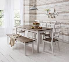 table and 4 chairs and bench canterbury dining table in