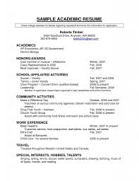 Sample Undergraduate Resume Resume Template Sample Ministry Student And Internship Examples