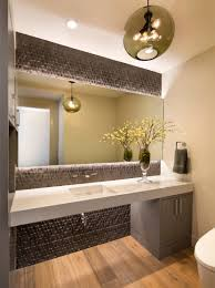3 contemporary bathrooms with orb pendant lights