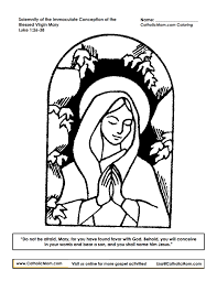 immaculate conception coloring page printable catholicmom com