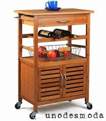 decoration ideas minimalist brown bamboo kitchen cart with chrome