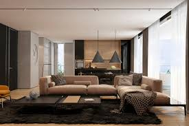 modern apartment design ideas with the soft and sleek texture
