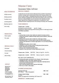 Resume Templates   Sample Insurance Agent Resume    Insurance     Threehorn com