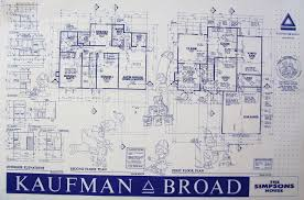 blueprint of simpsons house homes zone