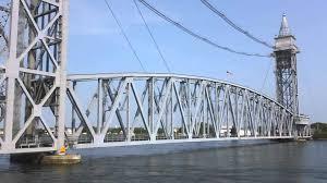 mbta capeflyer crosses the cape cod railroad bridge youtube